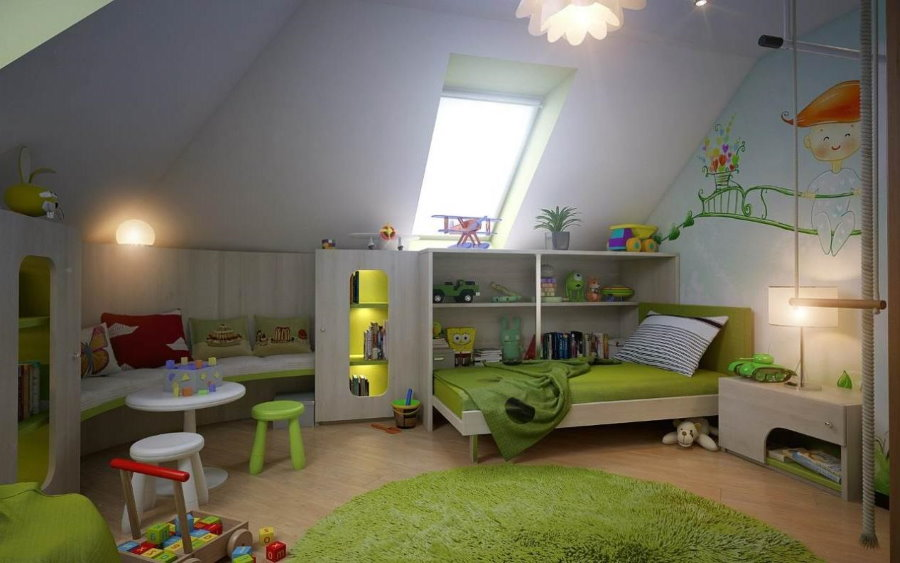 Уютная детская для ребенка дошкольного возраста