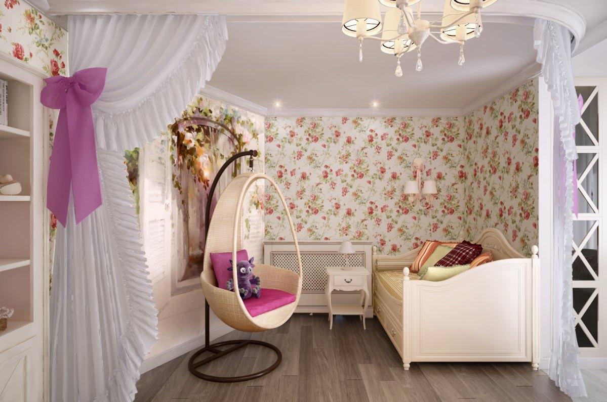 детская комната 10 кв м прованс