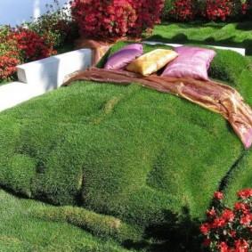 искусственный газон для дачи идеи