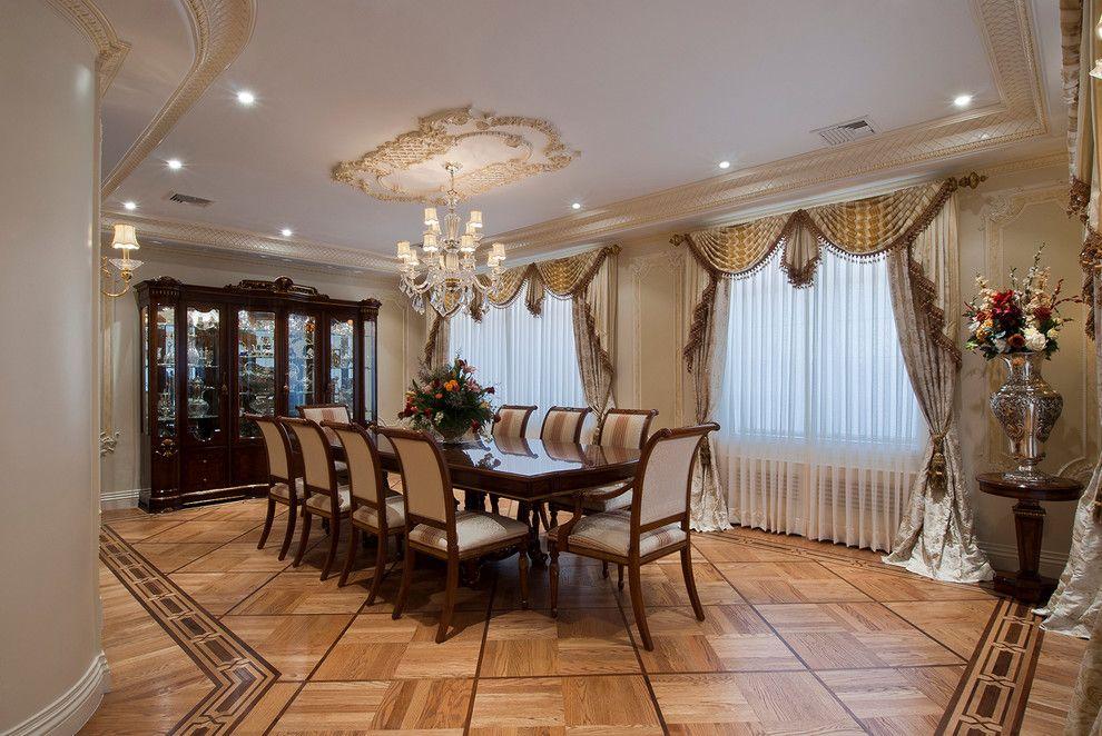 Декорирование гостиной-столовой в стиле ампир