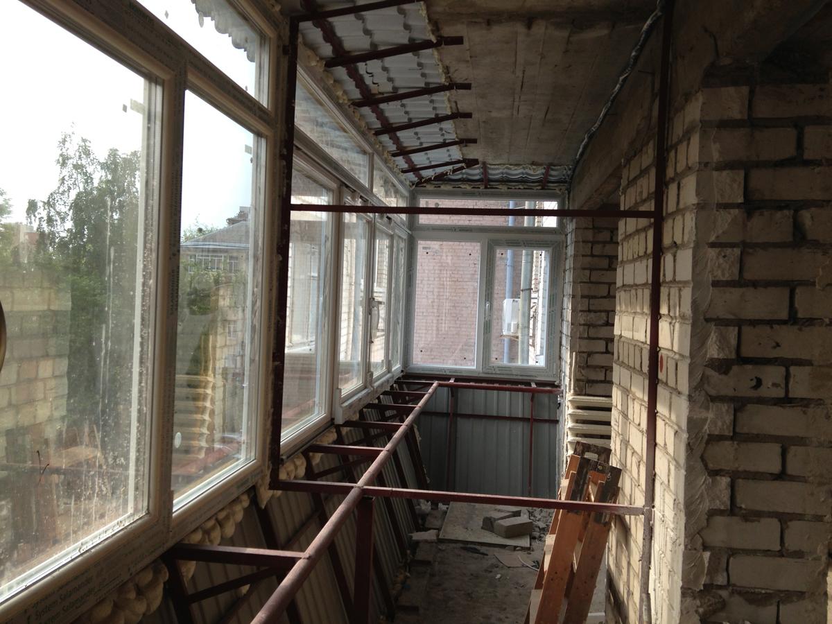 балкон с выносом пдоконника
