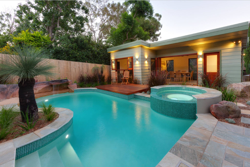 этом красивый бассейн на даче фото фойе террасах центра