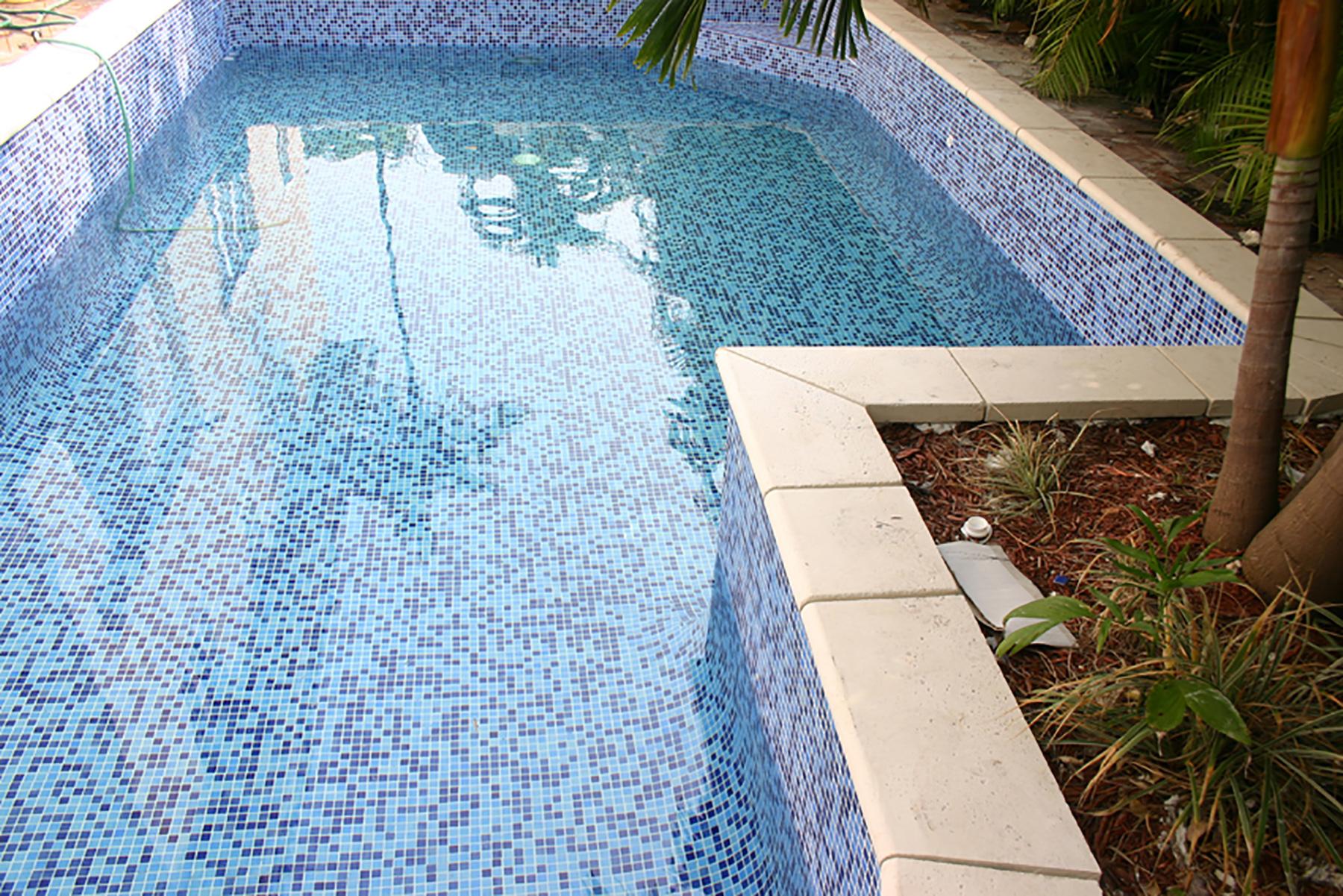 бассейн для дачи с мозаикой фото