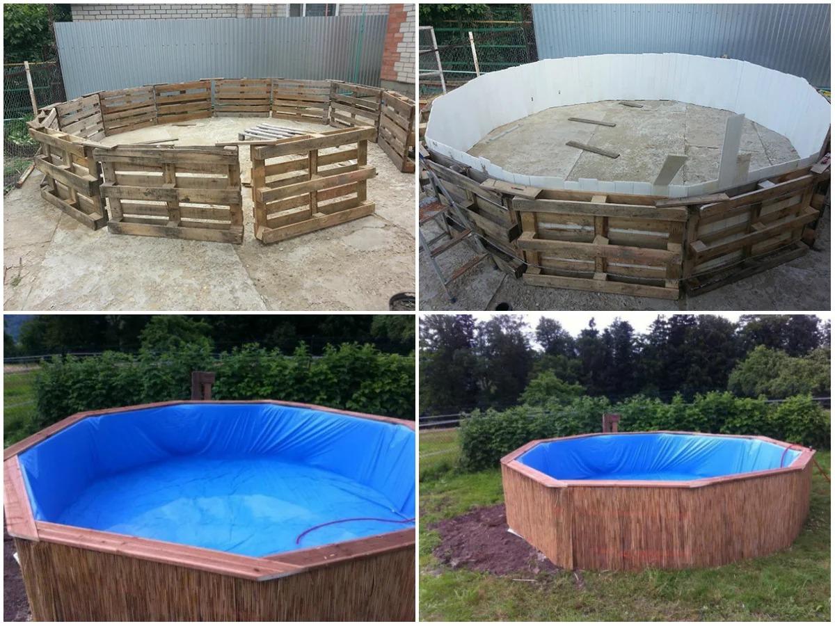 бассейн для дачи самодельный