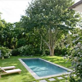 бассейн в саду на даче дизайн идеи