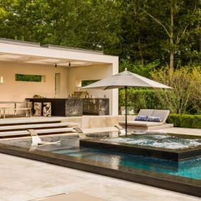 бассейн в саду на даче фото видов