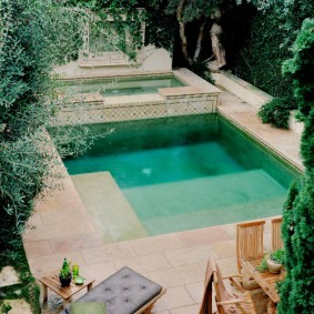 бассейн в саду на даче идеи виды