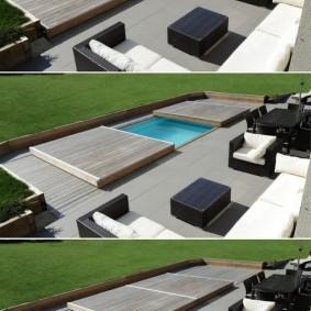 бассейн в саду на даче идеи фото