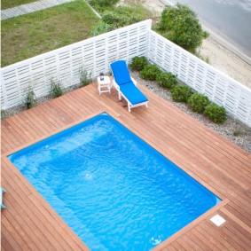бассейн в саду на даче обзор идеи