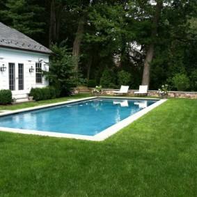 бассейн в саду на даче идеи обзор