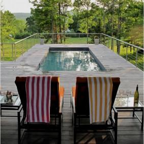 бассейн в саду на даче фото идеи