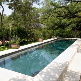 бассейн в саду на даче дизайн фото