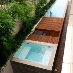 бассейн в саду на даче фото дизайна