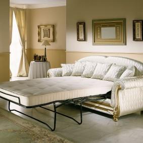 диван в гостиную белый раскладной