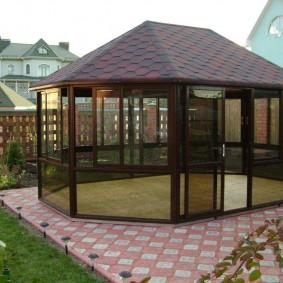 беседка во дворе частного дома идеи дизайн