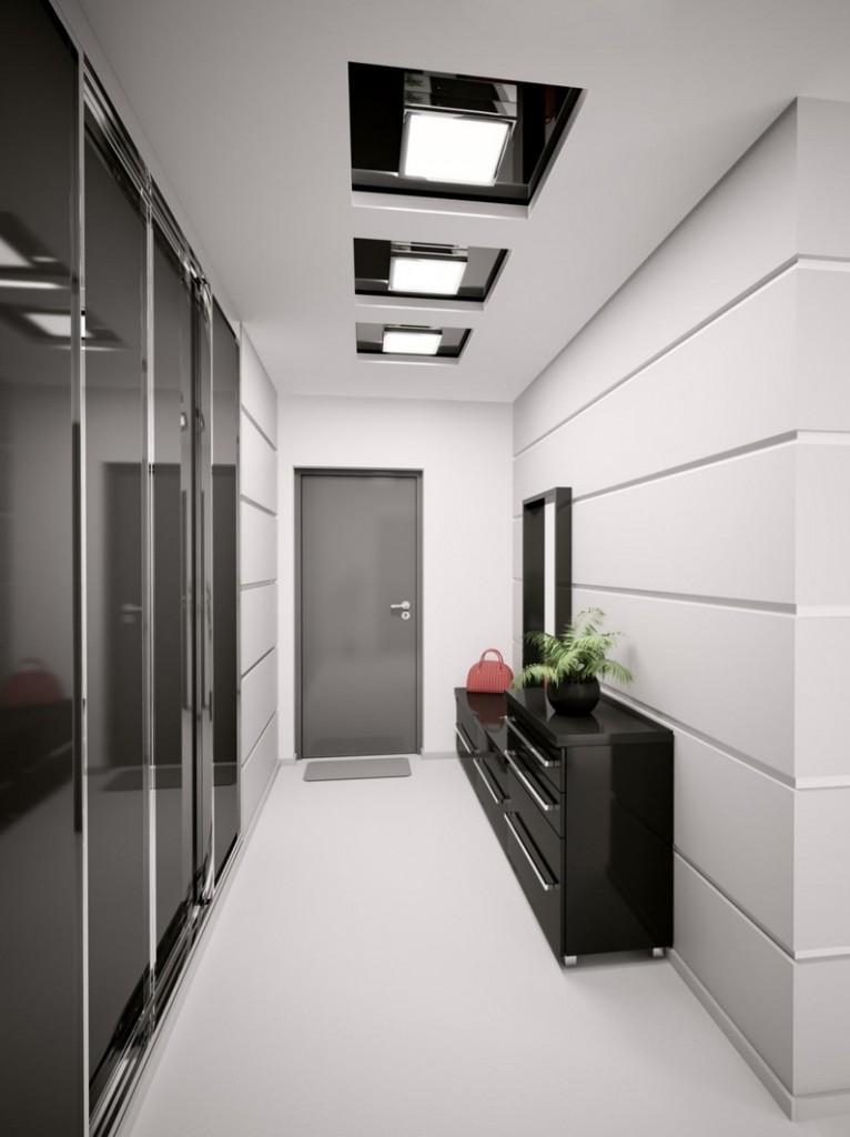 Черная мебель с глянцевой поверхностью