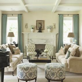 цветовая гамма для гостиной интерьер