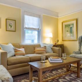 цветовая гамма для гостиной интерьер фото