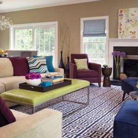 цветовая гамма для гостиной интерьер идеи