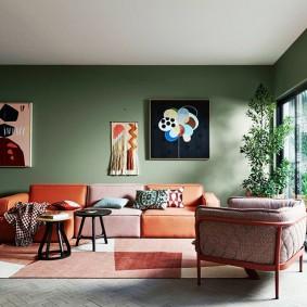 цветовая гамма для гостиной фото оформления