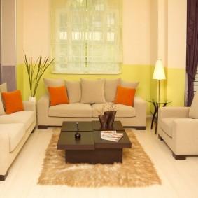 цветовая гамма для гостиной варианты фото