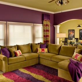 цветовая гамма для гостиной фото видов