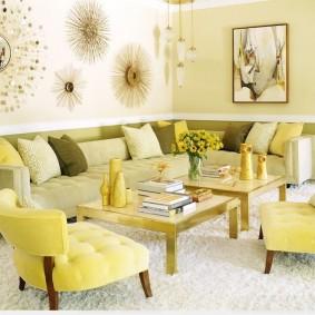 цветовая гамма для гостиной виды дизайна