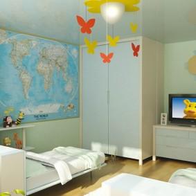 декор детской комнаты оформление фото