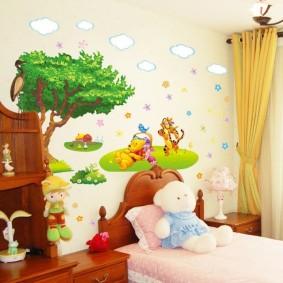 декор детской комнаты фото оформления