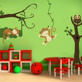декор детской комнаты варианты