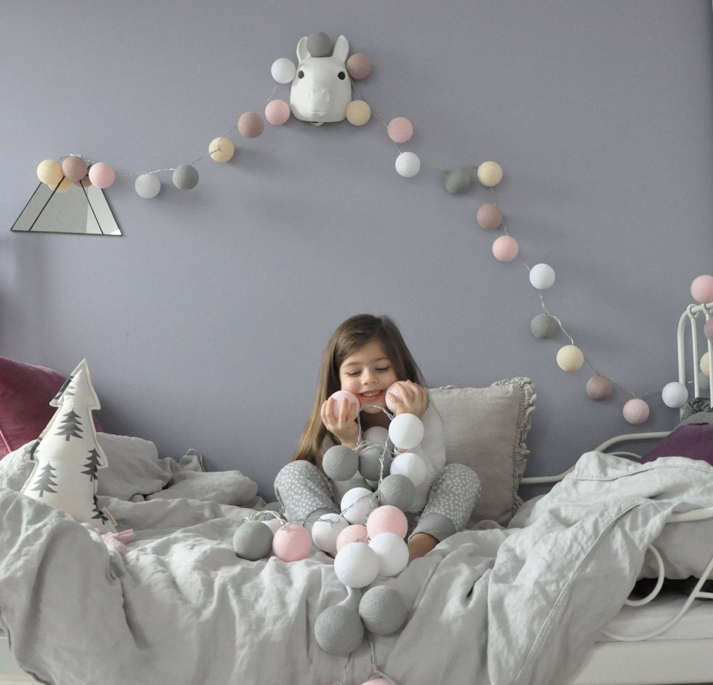 декор детской комнаты гирлянда