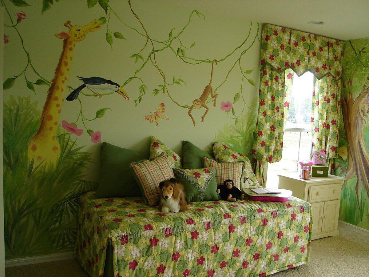 декор детской комнаты основной цвет