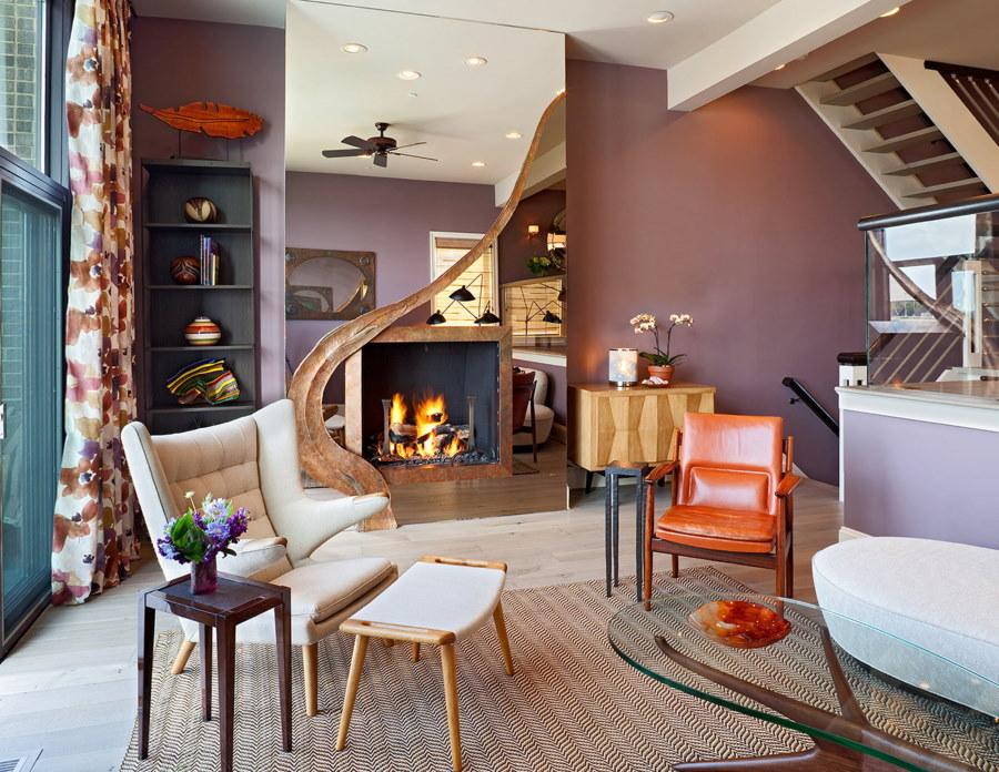 Оригинальный декор современной гостиной