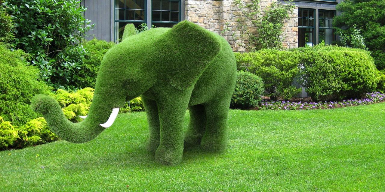 декоративный топиарий слон