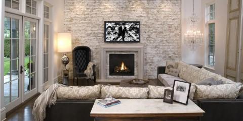 декоративный камень в гостиной идеи дизайна