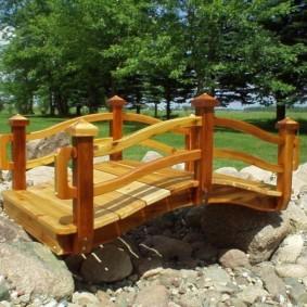 декоративный мостик для дачи варианты фото