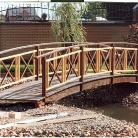 декоративный мостик для дачи идеи варианты