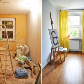 Фото детской в трешке до и после ремонта