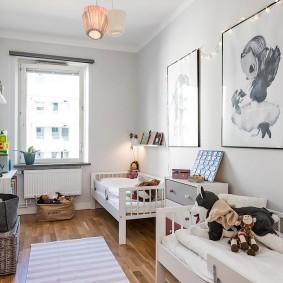 детская комната 10 кв м интерьер