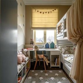 детская комната 10 кв м фото интерьера