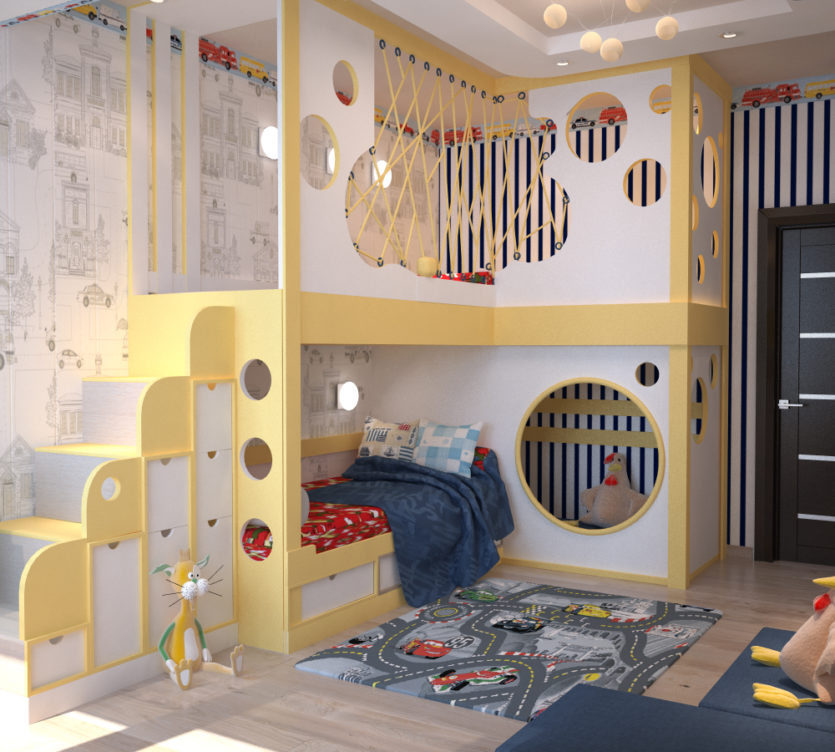 детская 11 кв метров дизайн