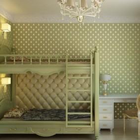детская комната 3 на 3 в классическом стиле