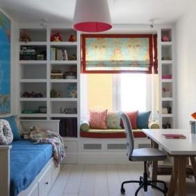 детская комната 8 кв м интерьер фото