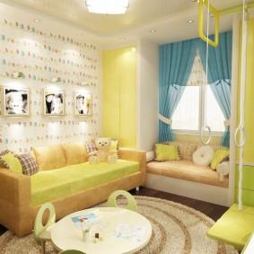 детская комната 8 кв м фото интерьер