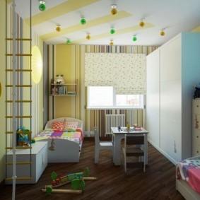 детская комната 8 кв м фото интерьера