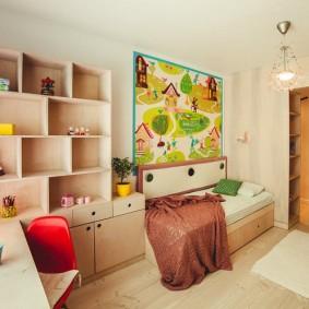детская комната 8 кв м интерьер идеи
