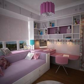 детская комната 8 кв м оформление фото