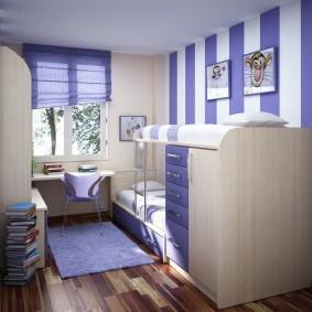 детская комната 8 кв м фото оформление