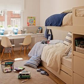 детская комната 8 кв м фото оформления