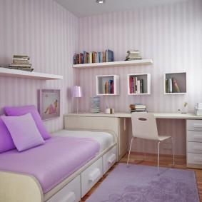 детская комната 8 кв м варианты